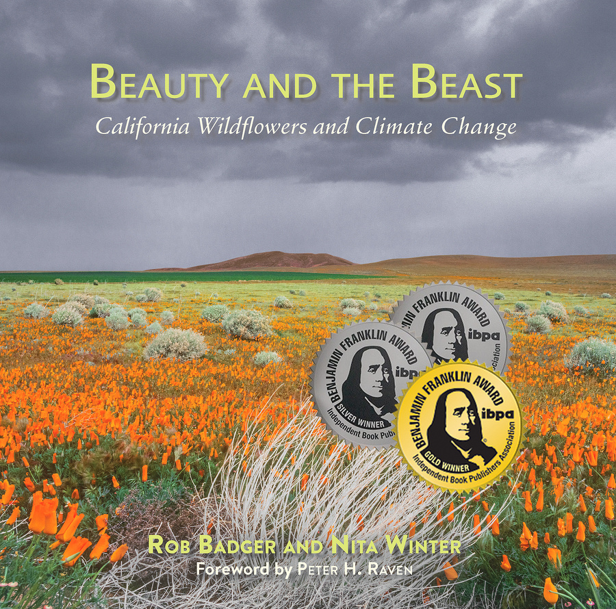 BATB California Wildflowers and Climate Change Book cover Gold + 2 Silver Benji