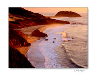 Point Sur at Sunset, Big Sur, California