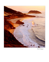 Point Sur at Sunset, Big Sur, California- Square