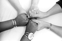 diverse group women join hands support each other friendship people photography Nita Winter
