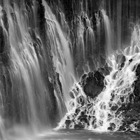 waterfalls section_01_McArthur Burney Falls State Park_ca_BW, gray scale