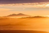 Mount Diablo_and the suns rays at sunrise thru morning mist_Contra Costa County_California_Rob Badger Photography