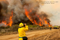 Rob Badger_photographing_zaca_fire_santabarbara_cayama_valley_ca