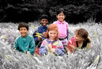 children in grass_field_casual_clr to hc