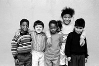 Diversity group of first and second graders Richmond California