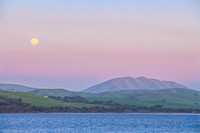 Full moon rising over Black Mountain and Tomales Bay_Marin County_California _S2P0432_Rob Badger