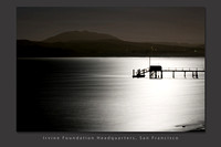 Black Mountain and Silhouette of dock against full moonlight reflected on Tomales Bay_Marin County_California_USA_S2P0481_Rob Badger_Corp slide